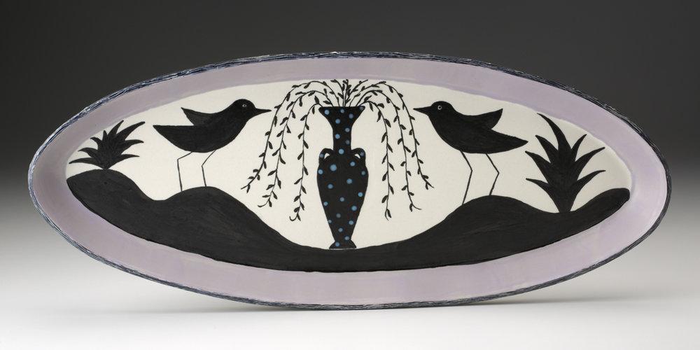 Birds and Vase