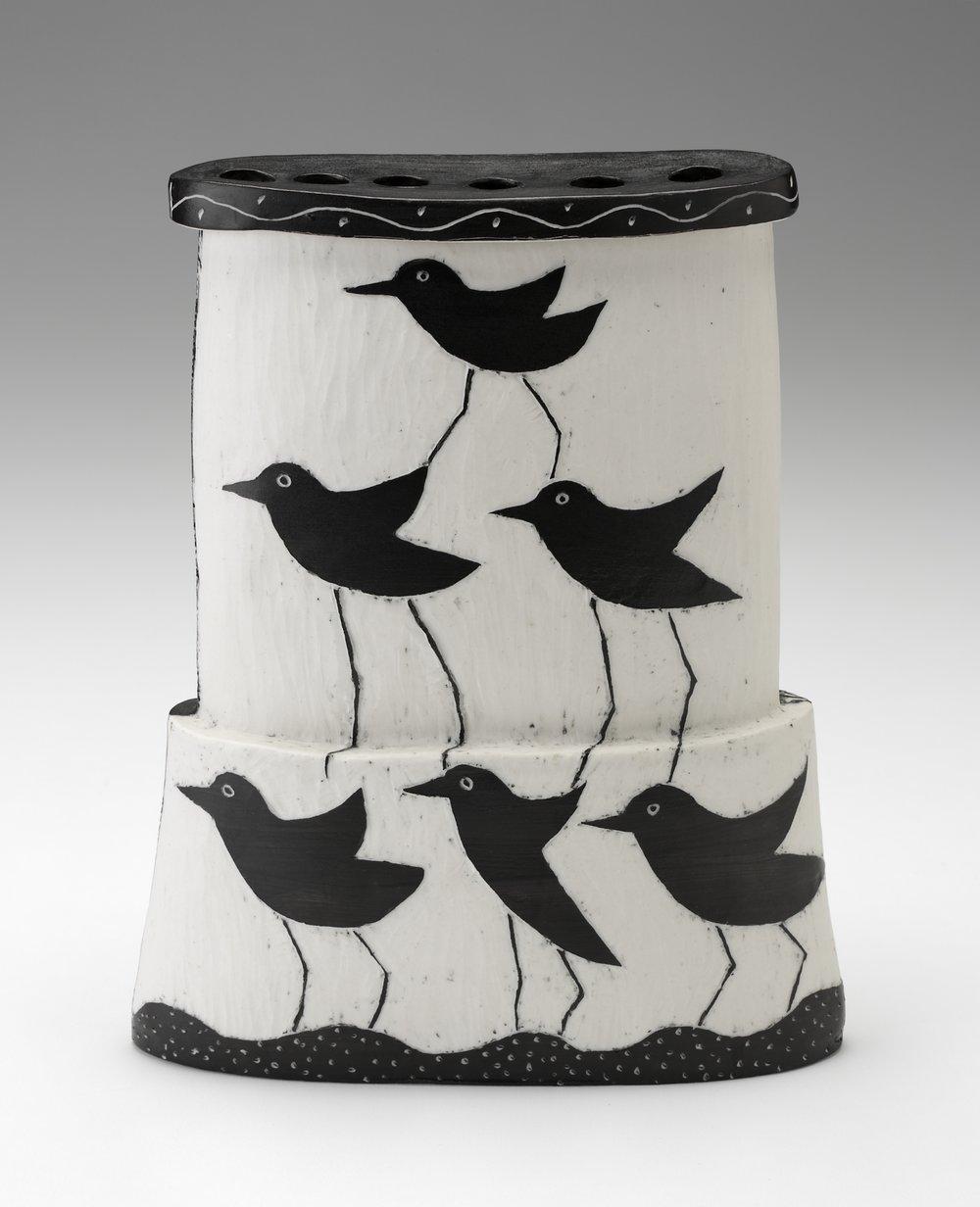 Bird Pyramid Vase