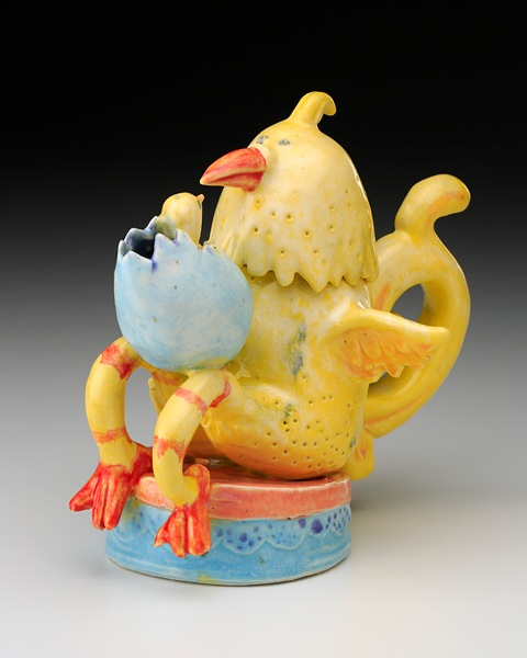 Mother and Chick Teapot