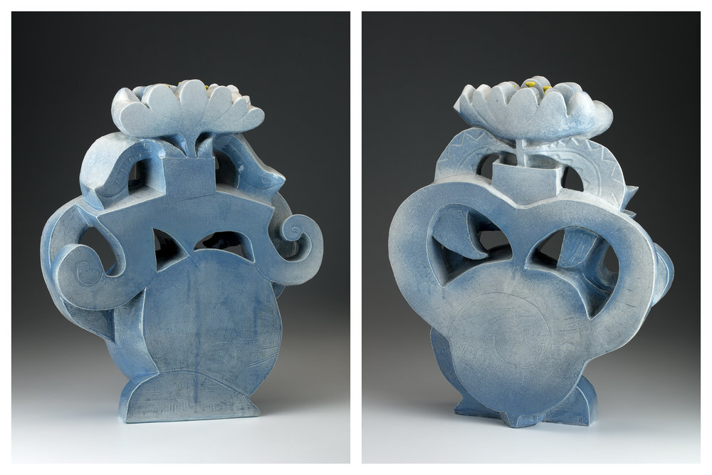 """This piece is around 23""""x18""""x6"""", fired to cone 6"""