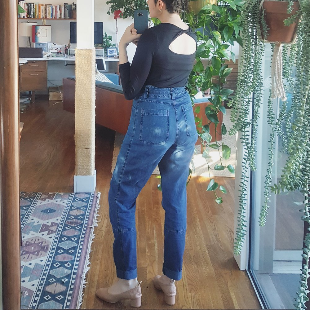 Saturday - December 30, 2017Rachel Comey lure pants + Amour Vert top + Everlane day heels