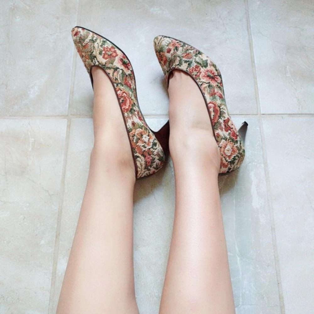 Nina Spain floral heels