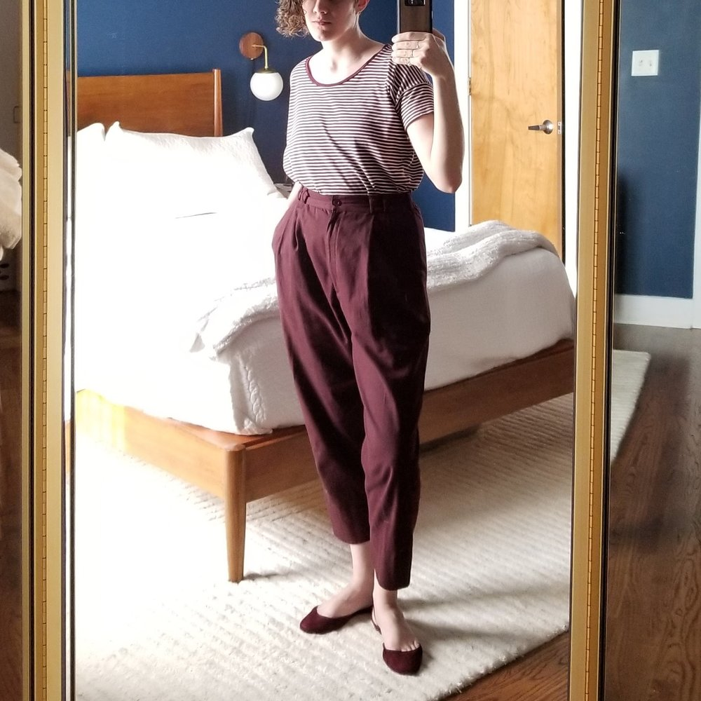 Wednesday - May 9, 2018Decided to double down on the burgundy today. Is it too much? Haha I loved it so I don't actually care if you think it's too much.