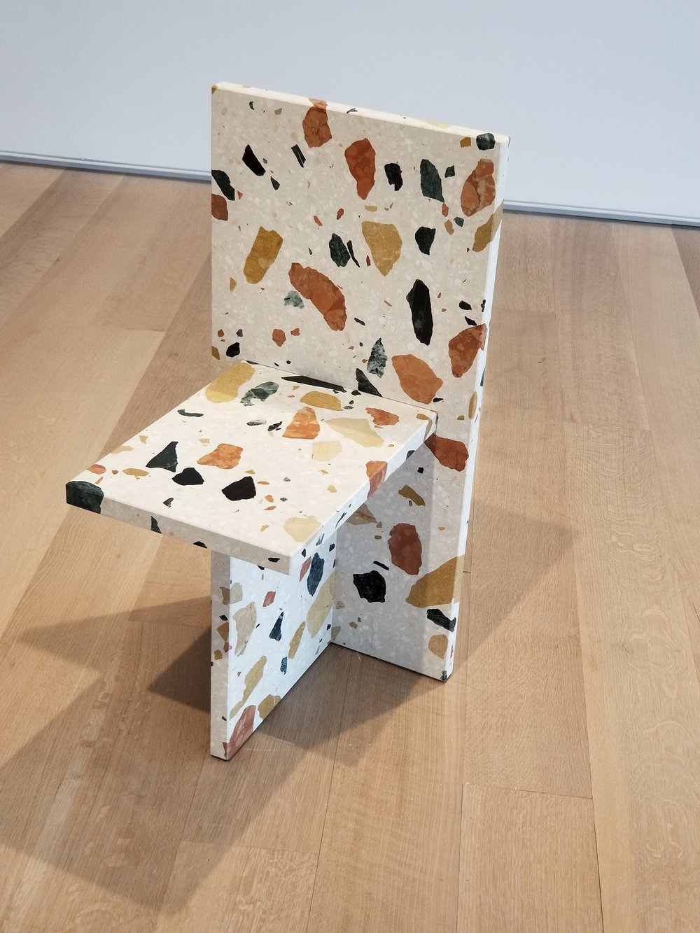 Big fan of this terrazzo chair by Max Lamb in the design & architecture exhibit at the Art Institute.