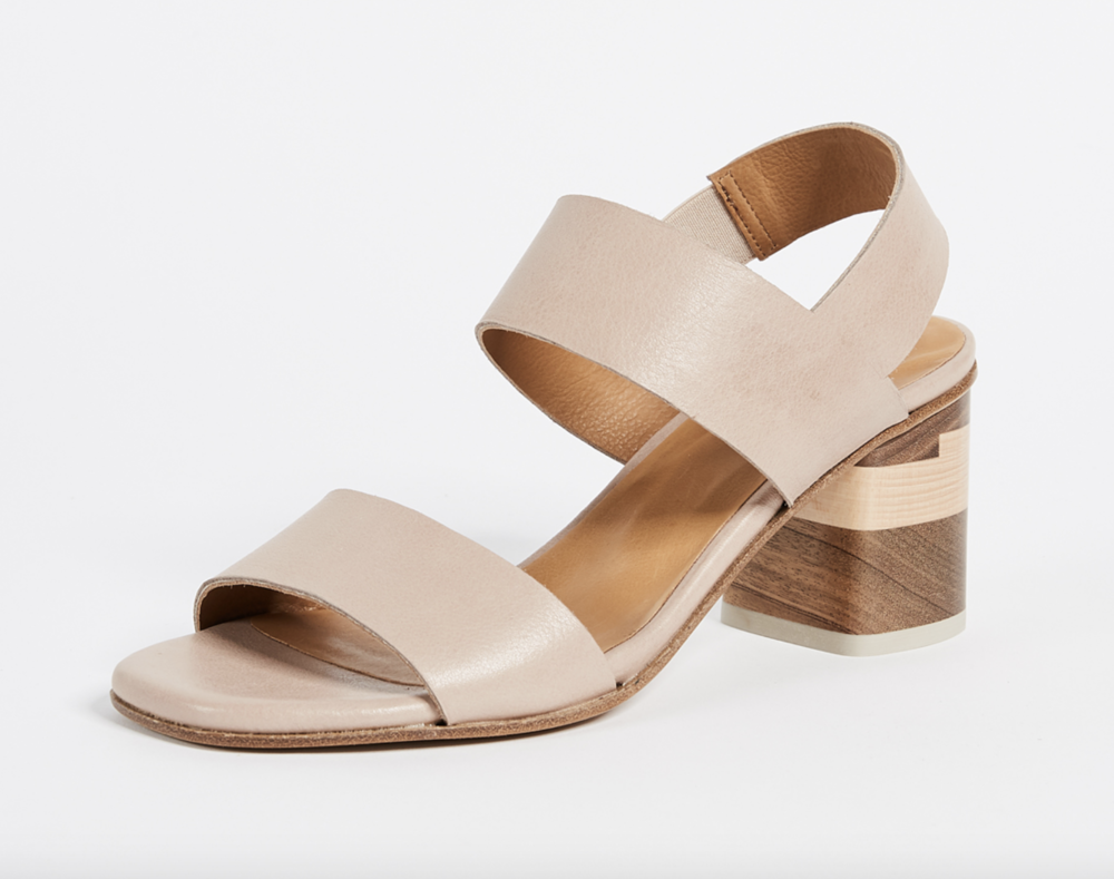 Coclico -  Bask - Love the Coclico wooden heels, but the straps on these are kind of wide and I'm afraid wouldn't give as much of a minimal delicate feel that I'm going for.