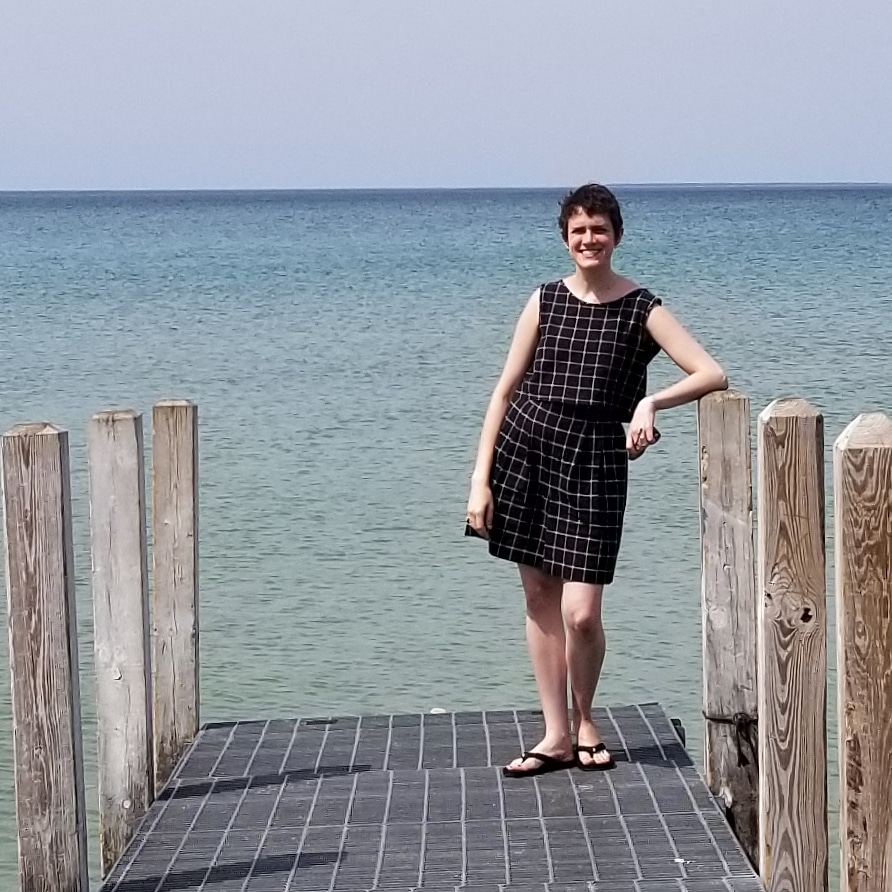 Saturday - August 4, 2018I just HAD to wear the matching windowpane separates on this trip. I got a compliment on it before breakfast! It was perfect for a day road tripping up the northern Michigan coast, stopping for cherries and to put our toes in the lake along the way. The half elastic waist in the shorts and their blousy fit make them excellent for both sitting and walking. There's something quintessentially summer about this outfit that I love.