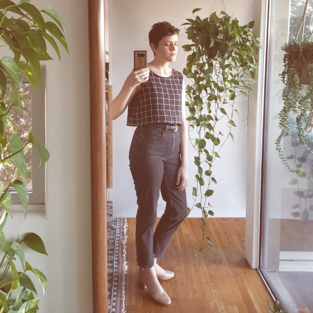 In Everlane jeans + day heels