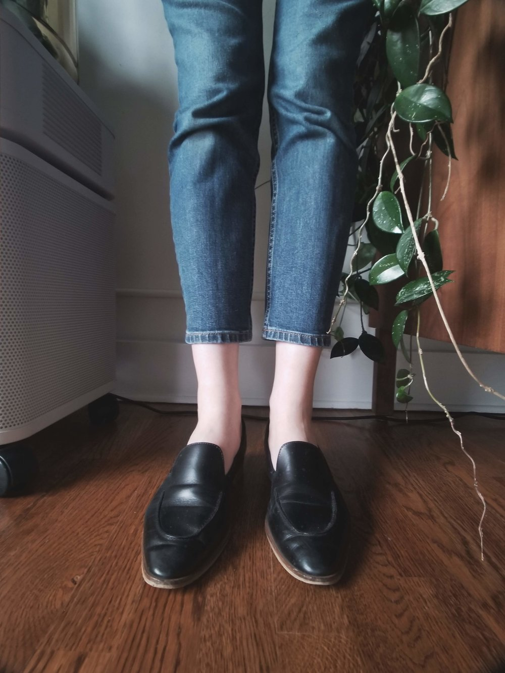 Jeans & loafers forever.