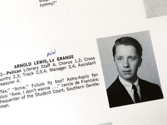 "Arnold LaGrange's entry in the 1965 Pelham (N.Y.) Memorial High School yearbook identified him as a ""Future fly boy?""  Photo: NorthJersey.com"
