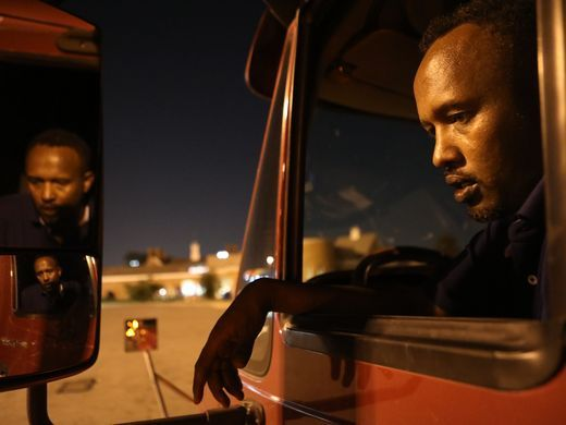"""""""This place is essential,"""" said Sadik Mohamud, 41, a trucker from Rochester, Minnesota, who stopped at The Vince on his way to Nashville. """"If you're driving around New York City, this is the only place you can stop and rest.""""  Photo: Kevin R. Wexler/NorthJersey.com"""