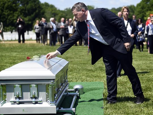 Michael Ryan was hours shy of his first birthday on May 11, 1969 when his father's F-4 Phantom fighter jet was shot down over Laos.   Photo: Danielle Parhizkaran/Northjersey.com