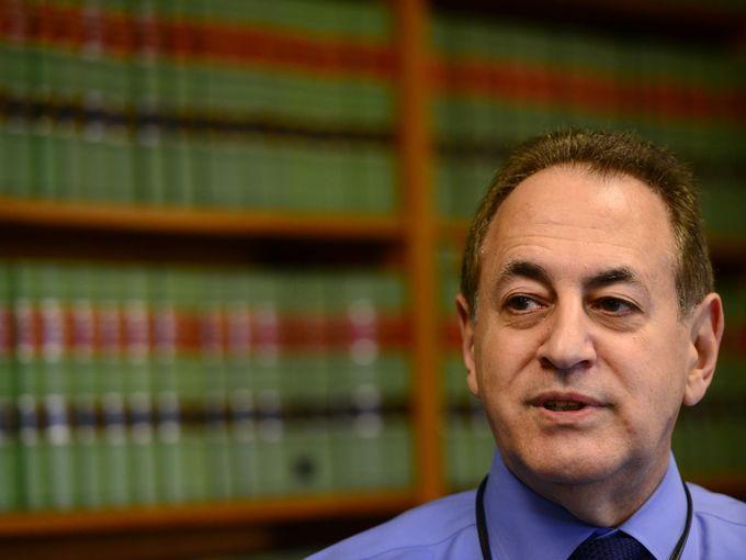 Drug Court Judge Miguel de la Carrera in his chambers at Passaic County Superior Courthouse.  Photo: Tariq Zehawi/Northjersey.com