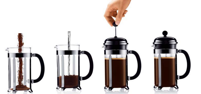 Use coarse ground coffee for the French Press.  We grind our coffee to meet your brewing needs.  Enjoy a French Press brew today!