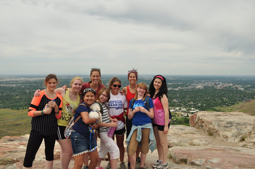 Our very first pilot hike to Table Rock in April 2016.
