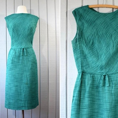 60s Rayon Wiggle Dress | $49