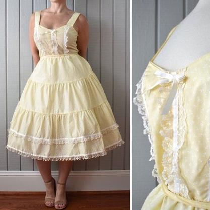 60s NOS Cotton Sundress | $65