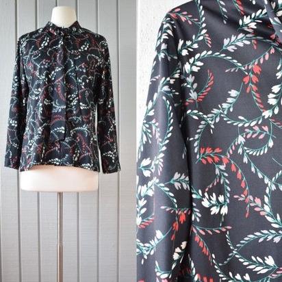 50s Floral Ascot Blouse | $34