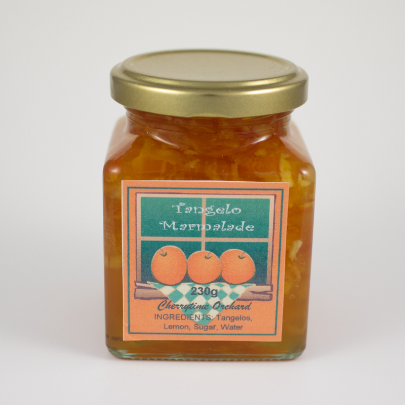 A glowing amber colour with finely shredded peel. Ideal for those who prefer a sweeter marmalade. Great on hot buttered toast. It can also be used as a ham glaze.