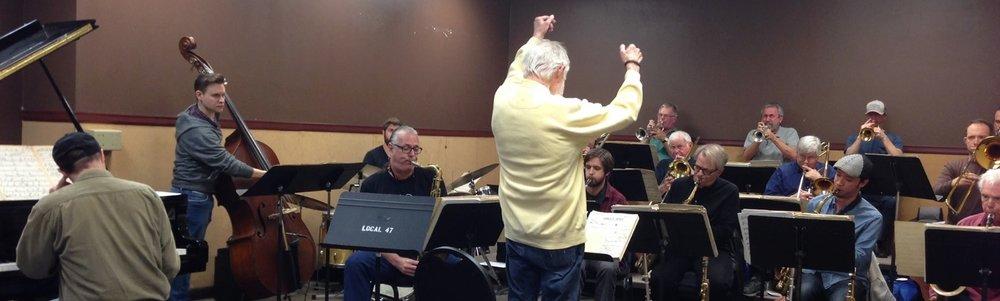 Bill Holman Big Band Rehearsal