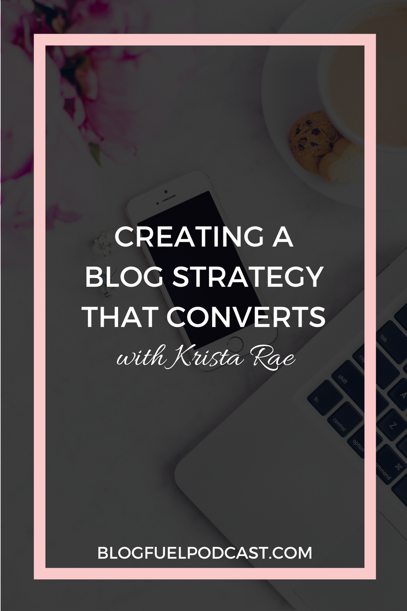 We all want to work smarter, not harder, right? Ep. 003 of the Blog Fuel podcast helps you create a blog strategy that converts. Krista Rae talks about a blog blueprint, tips for your sidebar (less is more), and why it's better to grow slowly. Make your blog your hardest working employee so you can give yourself a break!