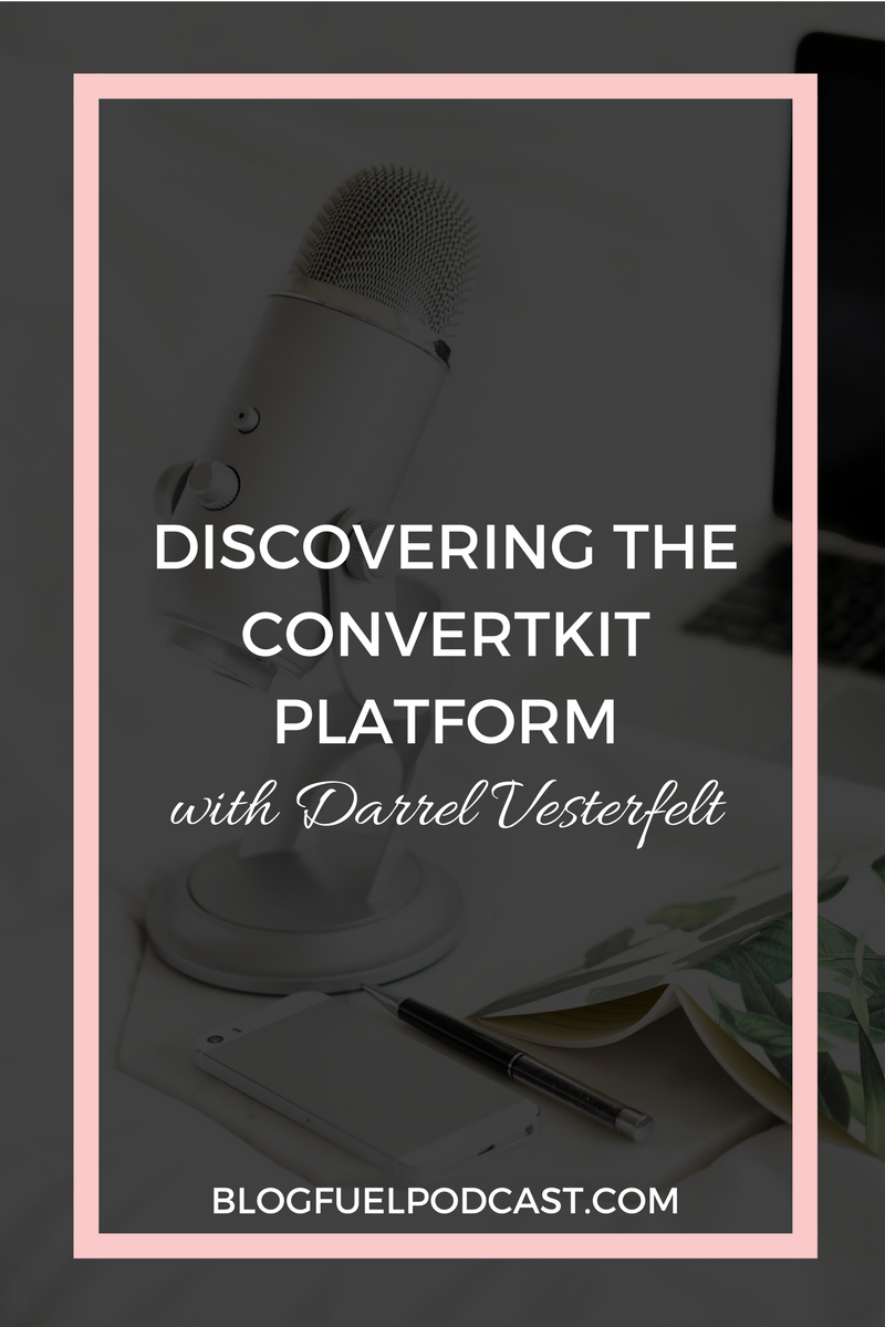 Email marketing is the most powerful tool in your blog's toolbox, and the Convertkit platform has made it so easy to make it work for you! Spend some time with me & Darrell Vesterfelt, Convertkit's Director of Growth, as we nerd out on email and dive into all the fabulous features of this robust, yet simple-to-use, email platform. Click to listen to Blog Fuel Podcast Ep. 012.