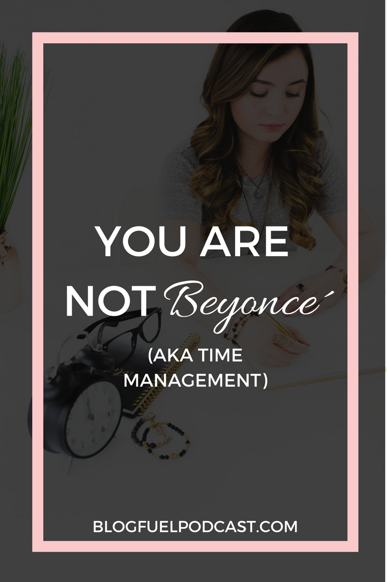 "Let's be real: You are not Beyonce. You may have seen the meme going around social media that says, ""You have the same 24 hours as Beyonce."" While we may have the same 24 hours, we don't have a team of assistants to take things off of our plates. So today, Erin and I are talking about project & time management. We're sharing things that we personally use and provide tips to help you manage ALL THE THINGS with your blog & business."