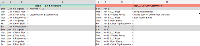 Editorial Calendar 11