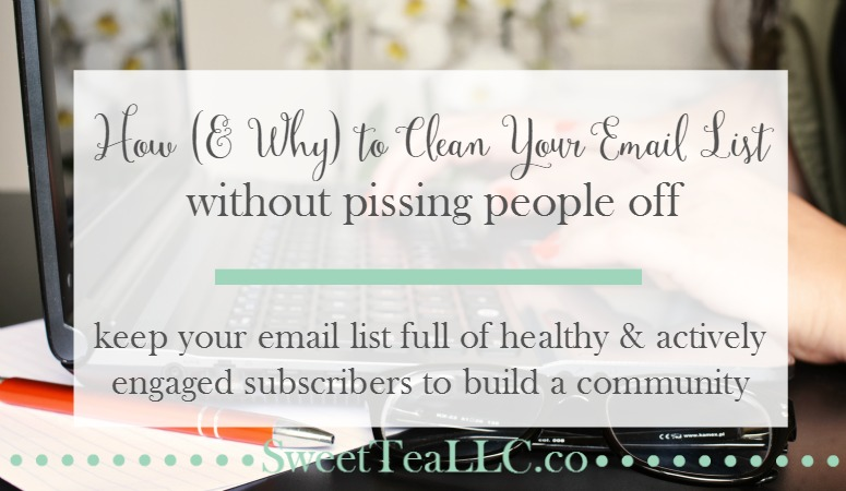 Instead of trying to grow a massive email list, focus instead on growing an active & engaged email list, and keeping your list clean. Learn how to clean your email list of stale & inactive subscribers without pissing people off!