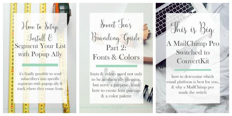Sweet Tea LLC branded collage