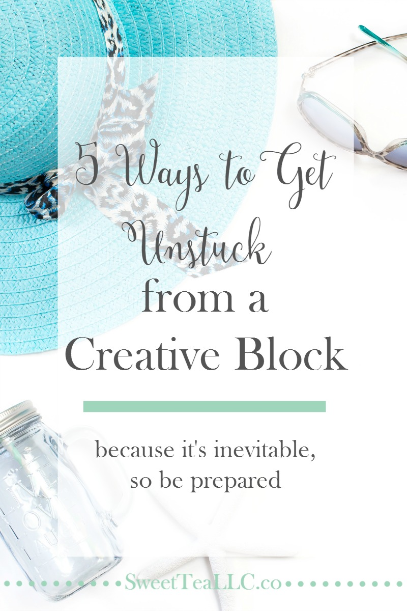 Our brains get worn out and need a break, which leaves us in a creative block. Rather than waiting for it to happen, be prepared with these 5 ways to get unstuck and get those creative juices flowing again.