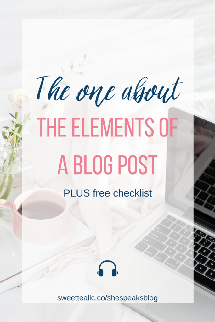 Do you have all the key elements of a blog post? Some elements are good for engagement with your readers, while others are necessary for growth, or SEO. Learn what elements to include in your blog posts plus download a free checklist - one less thing to think about!