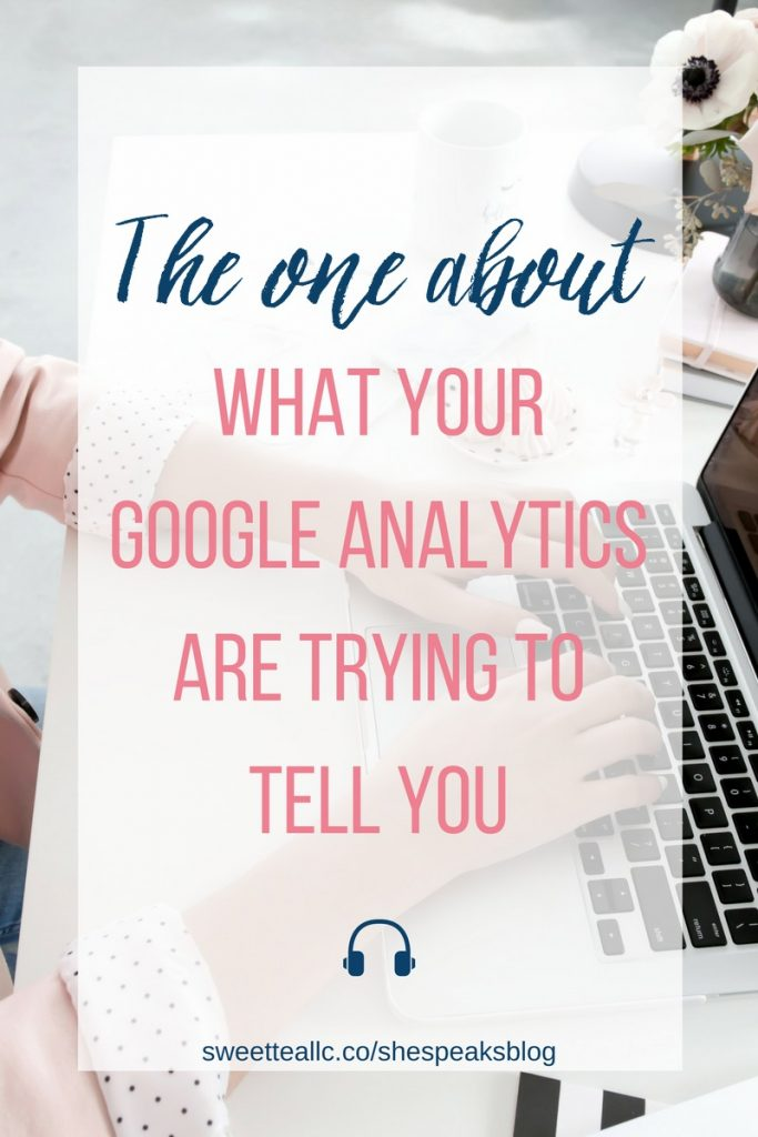 If you look at your Google Analytics just to see your pageviews, you're missing out on so much valuable information about your audience! Learn what your Google Analytics are trying to tell you with this episode of She Speaks Blog, plus get access to two FREE custom Google Analytics dashboards!