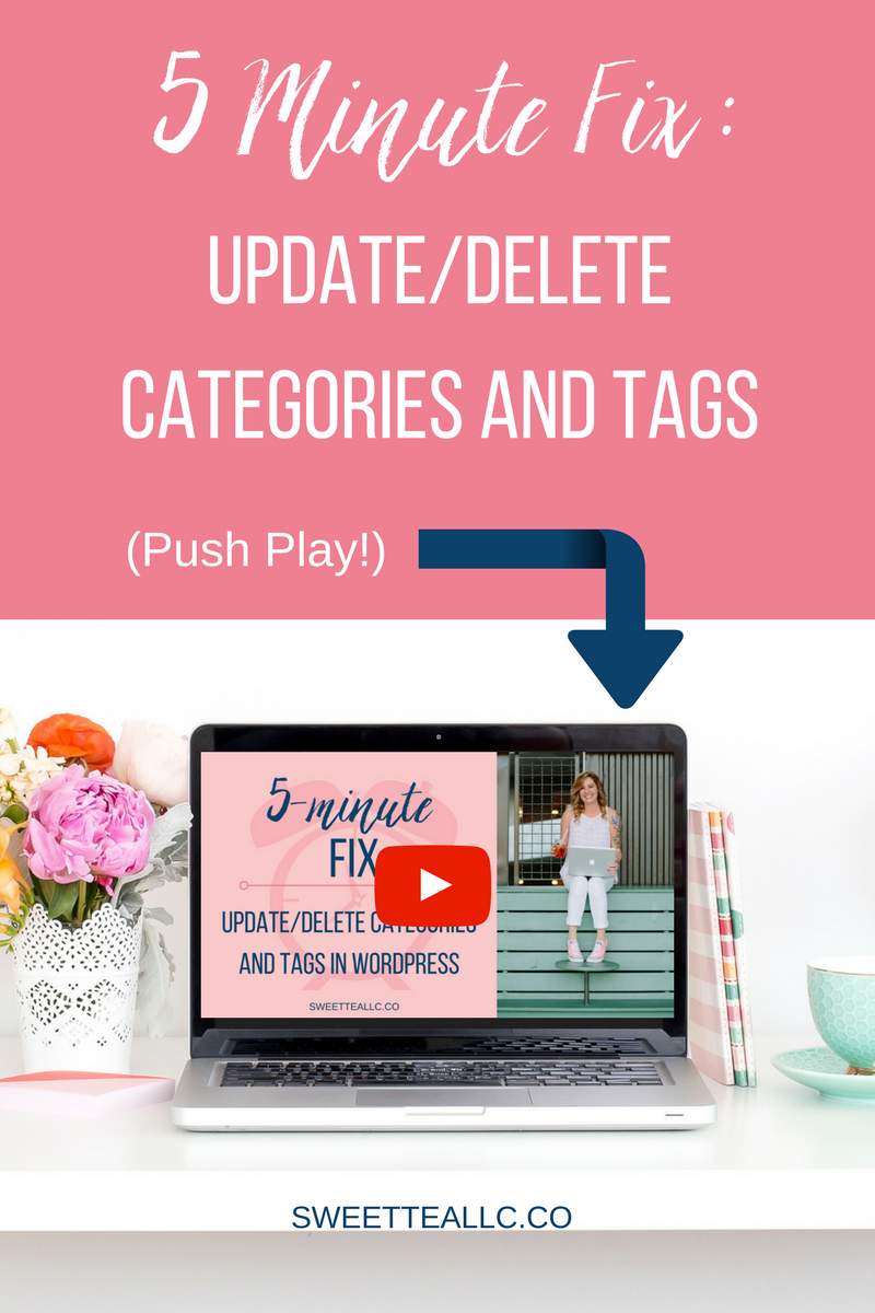 In this 5 Minute Fix, I'm going to show you how to update your categories and tags properly.