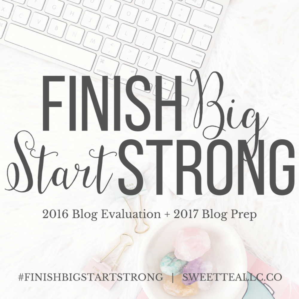 Finish Big, Start Strong. This 7 week course is everything a blogger needs to get ready for a fabulous new year!