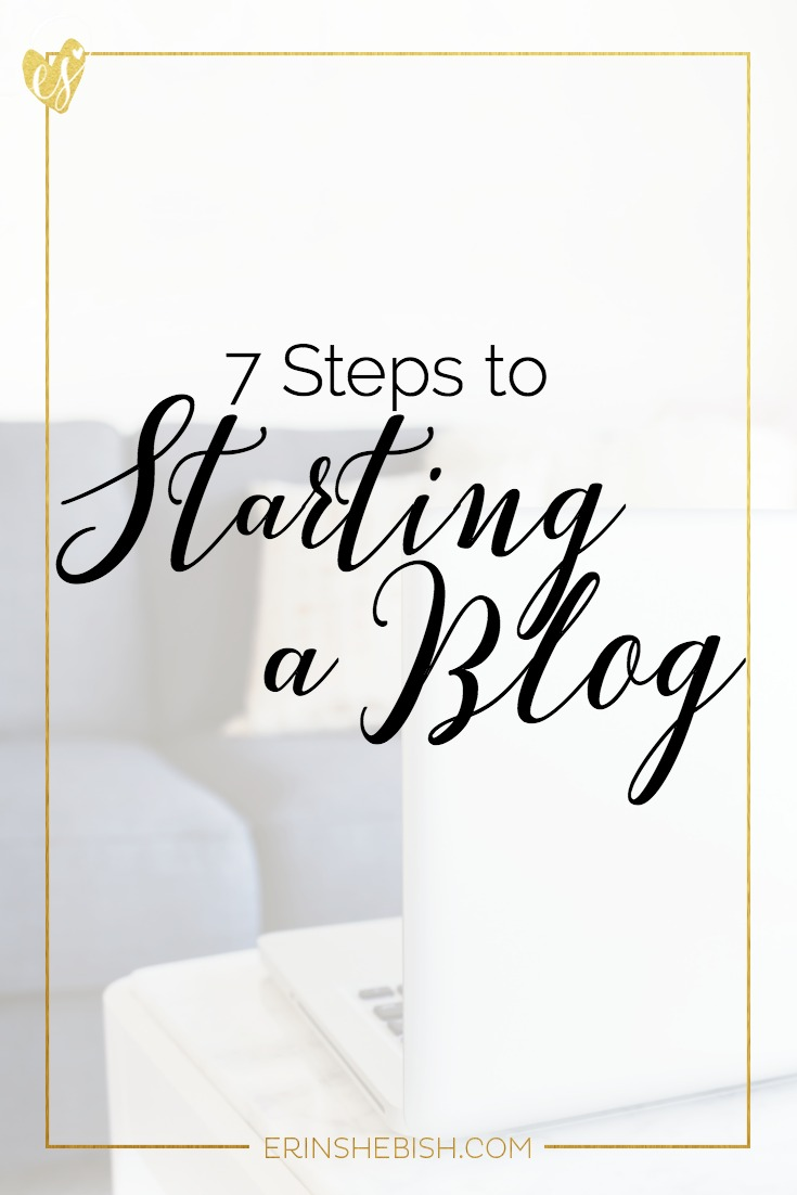 Starting a blog doesn't have to be stressful. In fact, you can start one today easily! Here are 7 steps to getting your blog started successfully!
