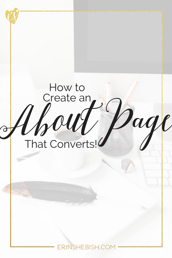 Your about page is a big factor in making conversions in your business. But are you missing the mark? Let's talk about creating a killer about page!
