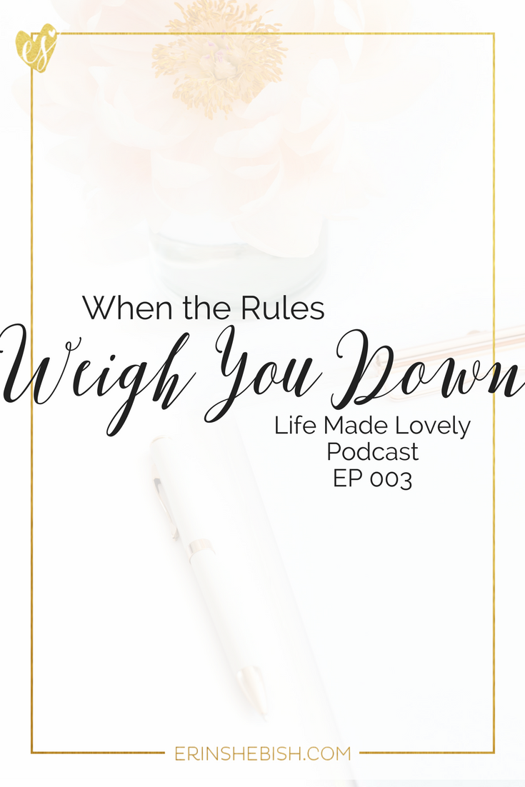Sometimes the rules are great. But sometimes the rules knock the wind out of our sails. What do we do when the rules weigh us down?