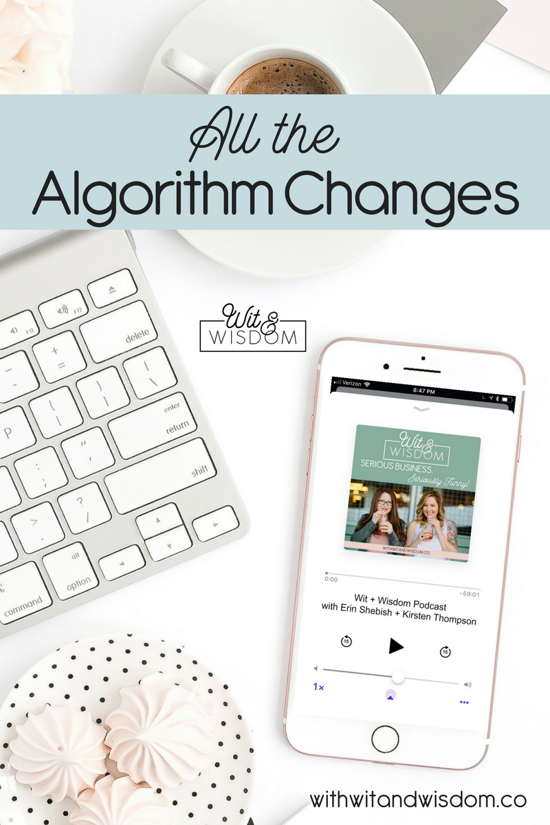 Algorithm changes happen all the time on social media and Pinterest. You don't have to lose your mind! Here is what you need to know as a business owner!
