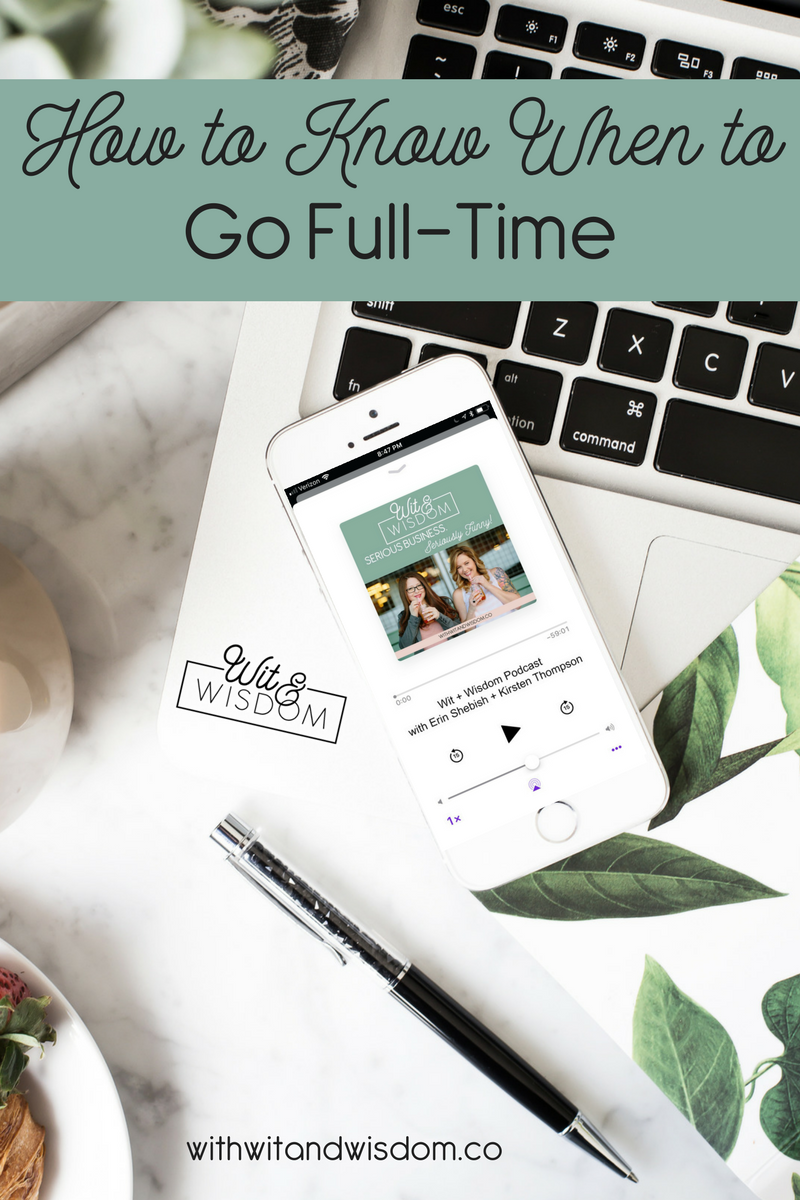 "How do you know when it's time to quit your job and pursue your side hustle full-time? There isn't a ""right"" time or a ""perfect"" time, but there are some things to consider."