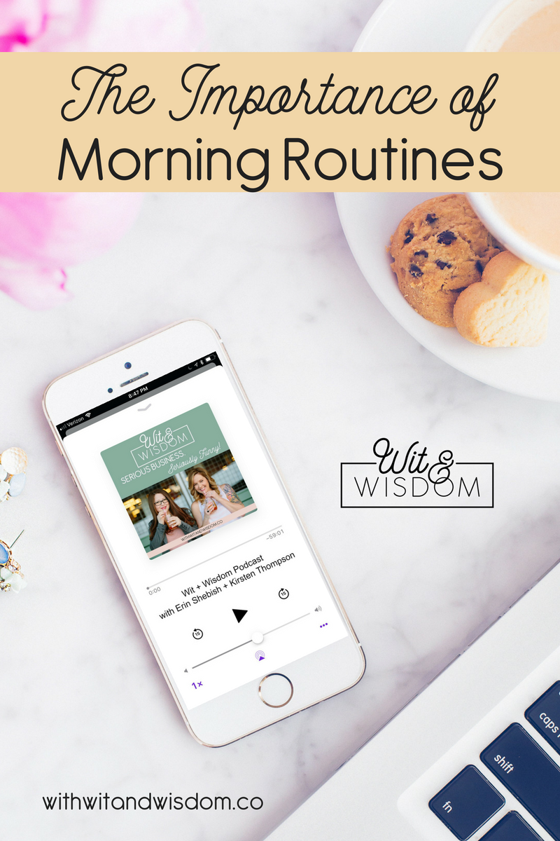 Working from home definitely has it's perks, but it's all too easy to get lazy and complacent and not be productive. We've discovered that having a morning routine helps us ease into the day with the right attitude and have a more productive, less stressful day.