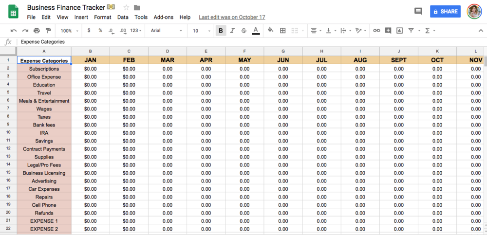 Annual totals automatically calculate when monthly entries are made.