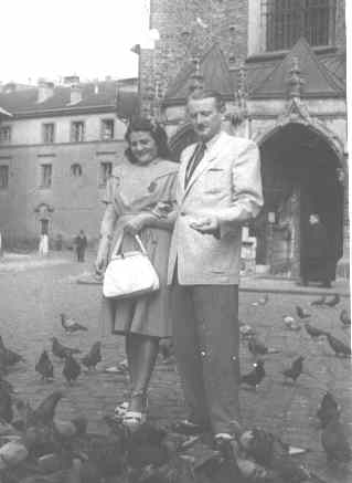 My parents in Krakow, Poland. 1946
