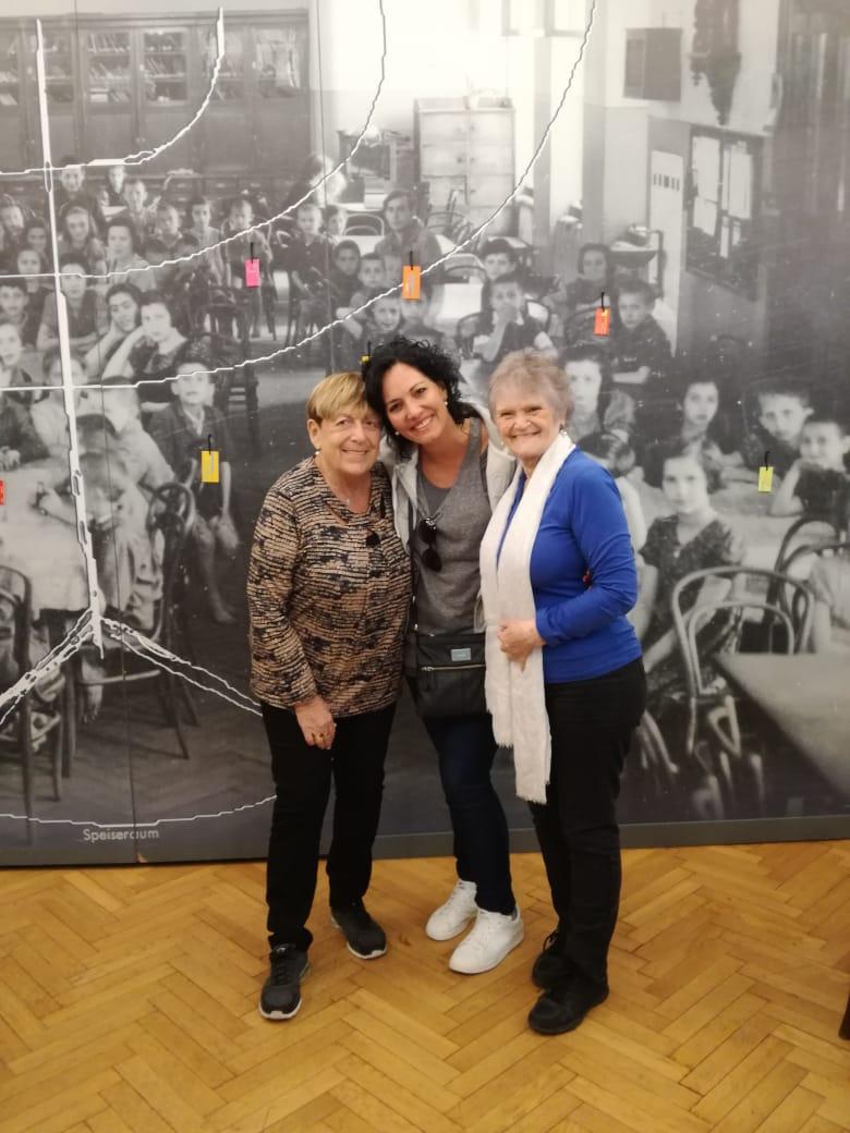 en el orfanato de Korczak con Aida y Andrea