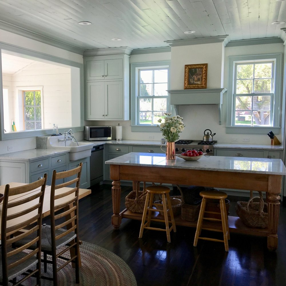 Blue Farmhouse Kitchen