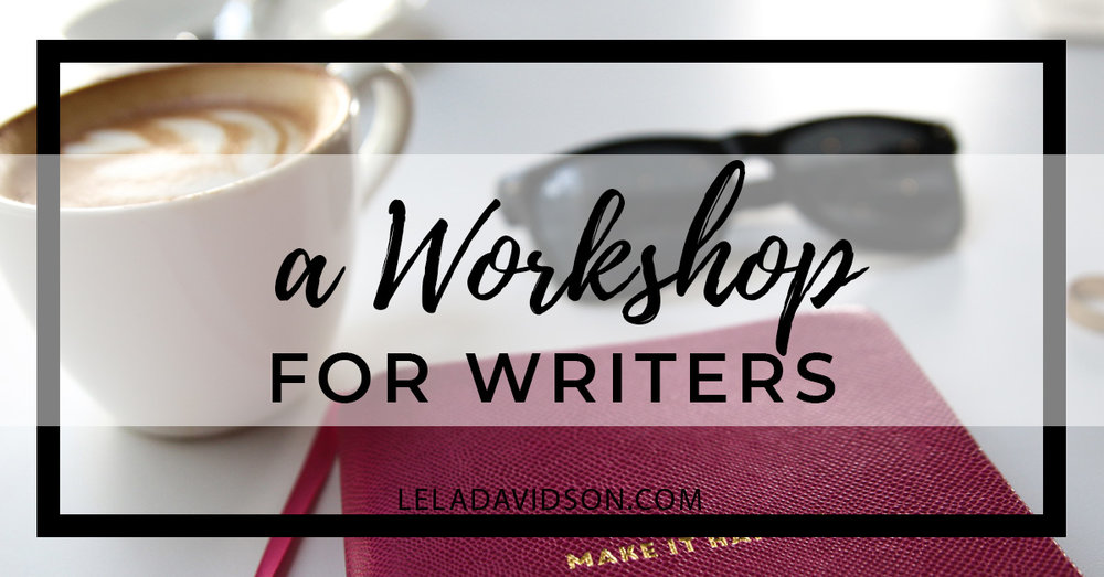 Coming Soon: Second Story Writer's Workshop