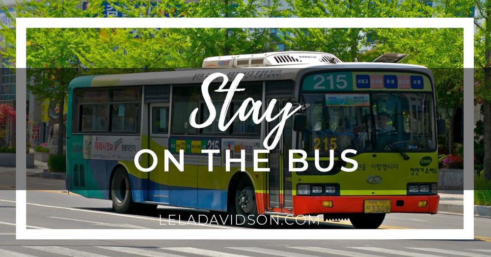 Stay on the Bus, Lela Davidson