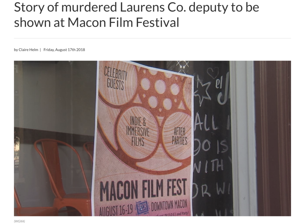 Story of murdered Laurens Co. Deputy to be shown at Macon Film Festival - The story of the 1998 murder of Laurens County deputy Kyle Dinkheller is also making it's debut at the Macon Film Festival. Dinkheller was murdered in the line of duty by Vietnam veteran Andrew Howard Brannan…