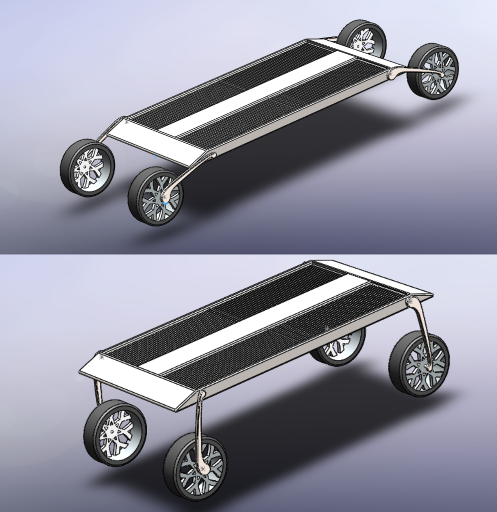CAD Models - We moved into higher-fidelity CAD modeling and animations, refining the Carpt system and its features.