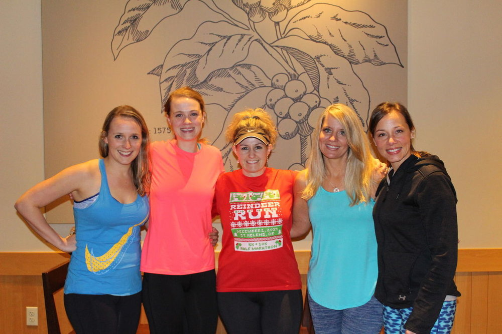 We are 5 moms from Columbia County, Oregon who happen to run a lot and have a heart to see clean water for communities around the world!   Left to right: Briana Rotter, Alison Kangas, Katie Olson, Katrina Sharp and Ashley Strausser   Photo credit: Julie Thompson, St. Helens Chronicle