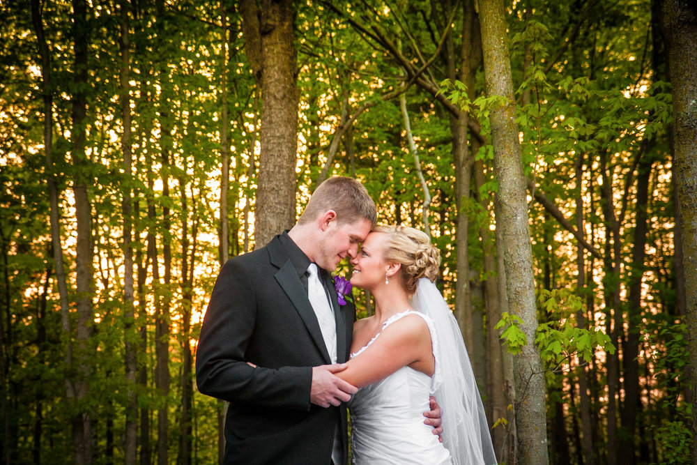 Bride Groom Woods North Wedding Photographer Adam